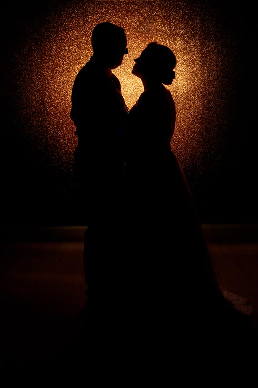 Creative backlit silhouette