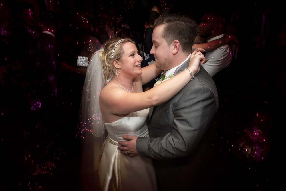 Bride and grooms first dance at the Rose Barn on the Warren estate