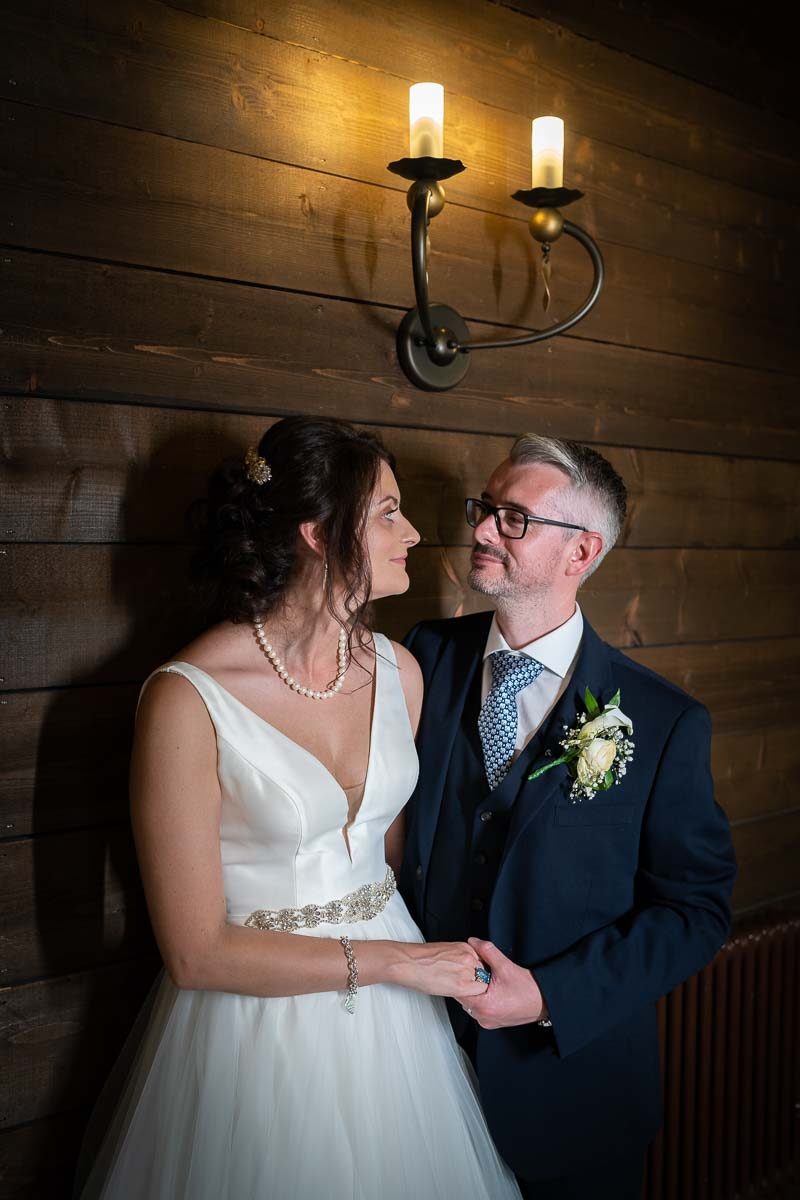 Bride and groom during their wedding day at The White Hart at Great Yeldham